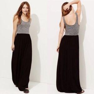 Lou & Grey maxi dress M gray and black